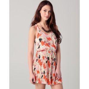 Parker Pleated  Floral Dress